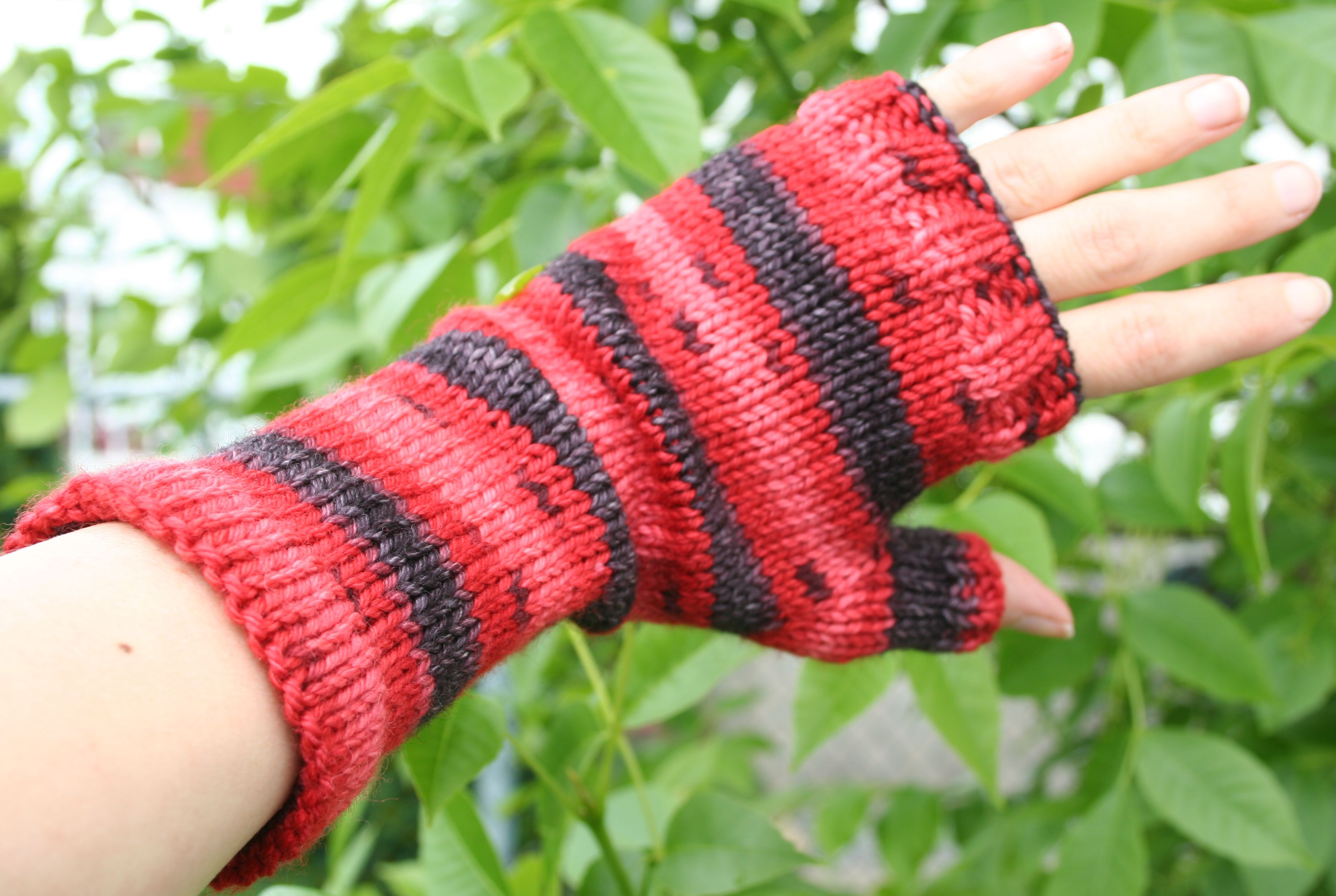 patron tricot gant sans doigt